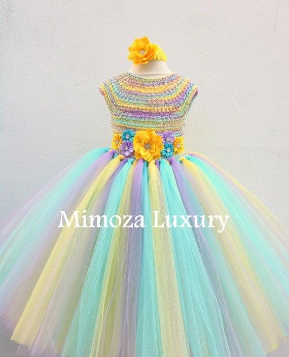 Rainbow Birthday Tutu Dress, 1st birthday dress, infant baby dress, girl infant dress, toddler party dress, birthday girl dress, flower girl