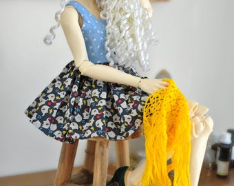 BJD/SD, Short dress, two-tone,  summer dress