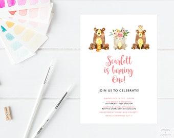 Kids Birthday Invitation, Birthday Invitations For Girls, Birthday Invites, Birthday Invitation Kids, Printable Invitation Templates