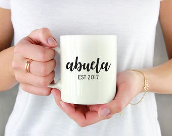 Abuela Mug - Abuela Gift - Gifts for Grandma - Pregnancy Announcement Mug - New Grandma Gift - Grandparent Mugs - Mothers Day Gift