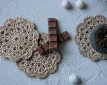 Jute Crochet Coaster - Set of 2 - Jute Coasters - Twine Coasters - Unique Coasters Set - Lake House Decor - Foodie Gift - Coffee Lover Gift
