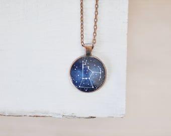 Orion necklace Galaxy Cosmic pendant Orion's belt Constellation Star Astrology Geek gift Girlfriend Graduation Alpha Orionis