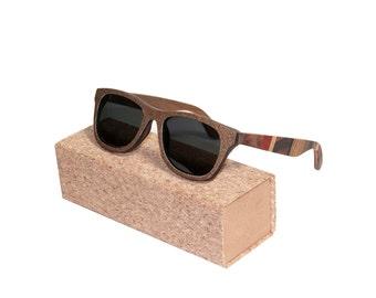 Handmade Oak Wooden Polarized Wayfarer Sunglasses   Wooden Sunglasses   Mens Sunglasses   Womens Sunglasses   Wayfarer Sunglasses   Shades