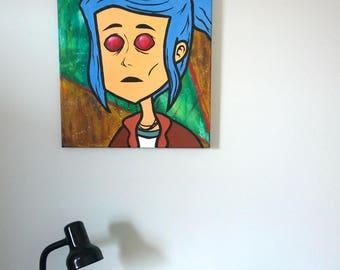 Alex - Oxenfree Painting - Original Acrylic Canvas - 16x20 inch