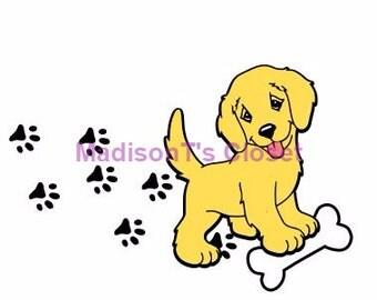 Golden Retriever Lab Puppy Dog Scrapbook SVG Cutting Digital File Only