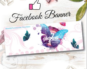 Plexus Facebook Banner Butterfly Kisses - Digital File
