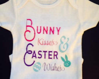 Bunny Kisses & Easter Wishes Onesie.