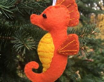 Sweet Seahorse Felt Ornament