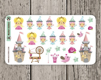 25 Sleeping Beauty Stickers / Planner Stickers / Decorative Stickers