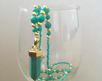 Turquoise Signature Stone Beaded Necklace