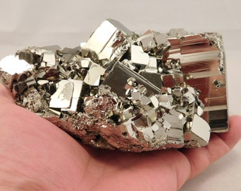 wOw A Huge! AAA PYRITE Crystal CUBE Cluster From the Huanzala Mine Peru 1877gr