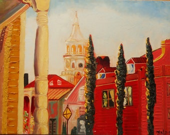 "Original Oil Painting by Nalan Laluk: ""Charleston, Charleston!"""