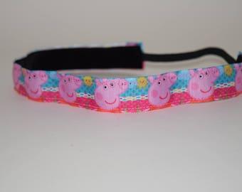 Peppa Pig headband- George Pig- Animal Headband- Pig Headband- Pink Pig headband