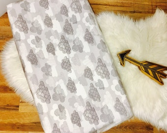 Custom Baby Bedding//Organic//Flannel//Clouds//Modern// Changing Pad Cover
