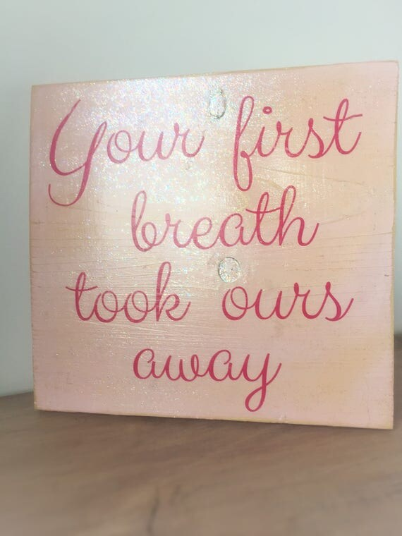 Items similar to above the crib sign baby room sign for Signs for little girl rooms