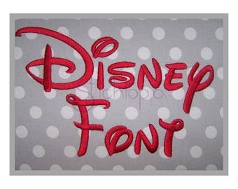 "Disney Embroidery Font Set .5"" 1"" 1.5"" 2"" 2.5"" 3″ - Machine Embroidery Font Disney Embroidery Alphabet BX Fonts 11 Formats Instant Download"