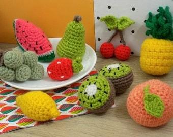 Toy for children | Fruit basket | Hand-made crochet in amigurumi