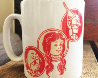 Wizard of Oz Mug - Dorothy Tin Man Scarecrow