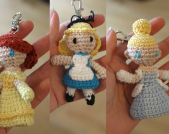 Disney princess amigurumi charm