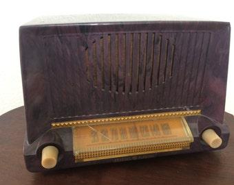 Vintage GE Tube Radio  Model-422 Bakelite Case