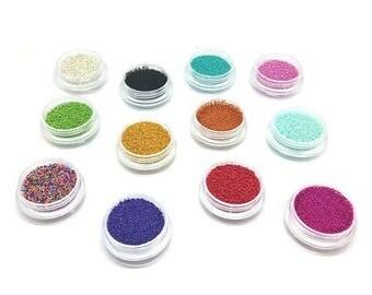12 boxes of fake effect microbeads sugar
