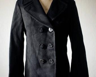 Navy pea coat   Etsy