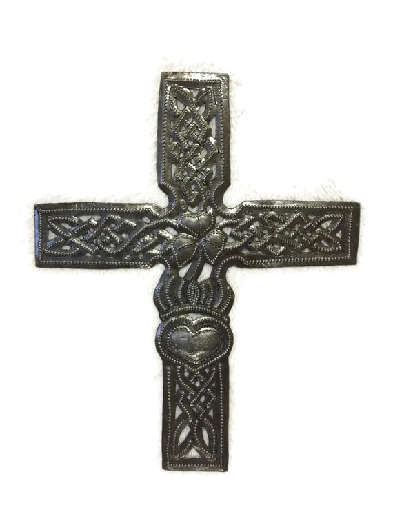 "Celtic Cross, Small Metal Religious original wall collection 7.25"" x 9"""