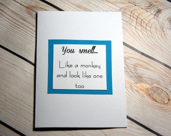 Snarky funny card for birthday/anniversary/ love card can be personalised