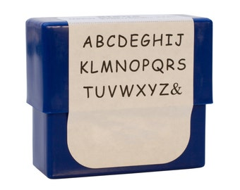 Siena Alphabet Stamp Set - 3 mm Upper Case Metal Marking Stamping Jewelry Tool - PUN-715.00