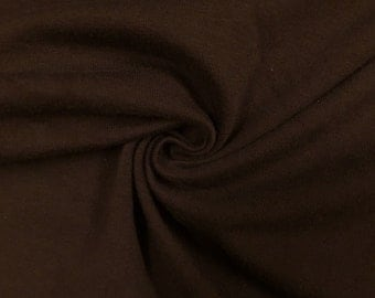 "Brown Cotton Jersey Lycra Spandex Knit Stretch Fabric 58/60"" wide All colors"