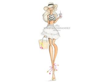 "Fashion illustration print, ""Mia"", Fashion sketch art,Fashion art print,Fashion illustration sketch, fashion art watercolor, fashion print"