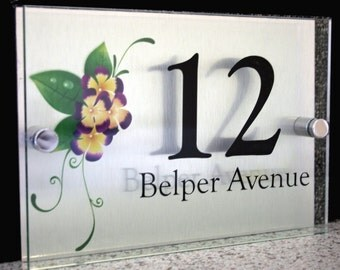 Modern House Number Plaque | Summer Fields Design
