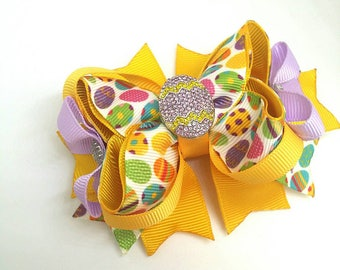 Easter Boutique Bow ,Easter girl hair bow
