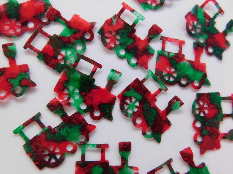 Christmas Train Confetti Holiday Train Confetti Train