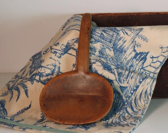 Primitive Wood Scoop, Wood Butter Paddle, Antique Woodenware, Antique Butter Spoon, Old Kitchen Scoop, Primitive Wood, Country Kitchen