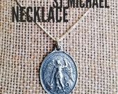 Sterling Silver St Michael Necklace, Catholic Jewelry, Christian Jewelry