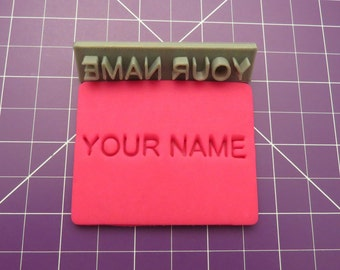 Personalized Name Stamp | 3D Printed Stamp | Personalized Cookie Stamp | Letter Stamp | soap stamp | custom stamp | with name
