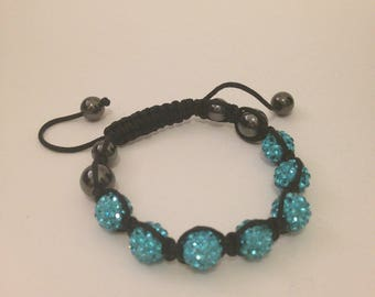 Crystal Friendship Bracelet - Aqua