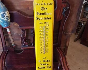 Hamilton Spectator Advertising Thermometer 3 ft