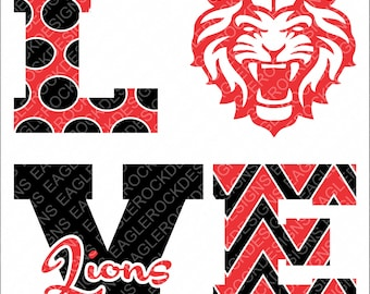 Love Lions| Lions| SVG| DXF| EPS| Png| Cut File| Football| Cheer| Cheer Mom| Silhouette| Cricut| Vector File| Instant Download