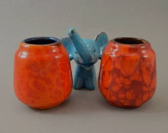 Vintage set of 2 vases / Scheurich / 552 8 | West Germany | WGP | 60s