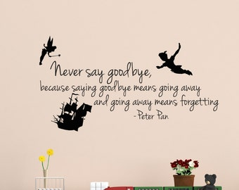 peter pan decal etsy. Black Bedroom Furniture Sets. Home Design Ideas
