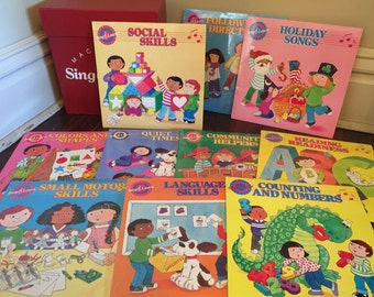 Vintage MacMillan Sing & Learn Records Set/Children Lesson Records/Vintage MacMillan Records/Classroom Records/Homeschool Records