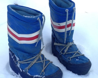 Sweet 80s Moonboots / Retro Snow Boots Women's Size 6 1/2 / 7