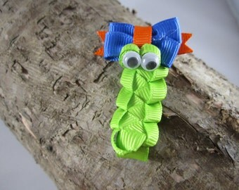 NEW inch worm ribbon art hair clip