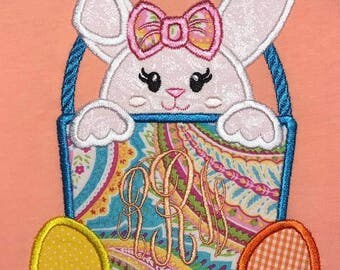 Girly Easter bunny basket shirt
