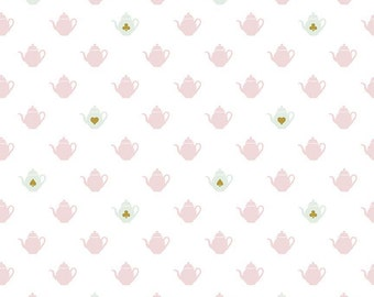 1 Yard Wonderland 2 by Melissa Mortenson for Riley Blake Designs 5773 - White Wonderland Tea Party Sparkle