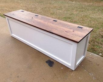 Storage Bench / Entryway Bench /Rustic Bench / Mudroom Bench / Antique Bench  / Shoe