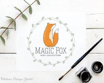 Kids Premade logo, Fox Logo Design for your Business, Premade Kids logo, Kids Boutique Branding and Logo (A27)