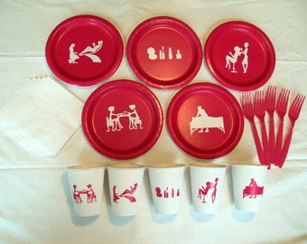 Spa Day Tableware Set for 5 People, Day Spa Tableware